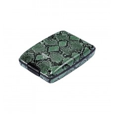Portofel din aluminiu Oyster de la Tru Virtu - Green Python Special Edition  ALEXER SRL