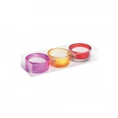 Set 3 lumanari in suport de sticla CDT-MO8524-99 ALEXER SRL
