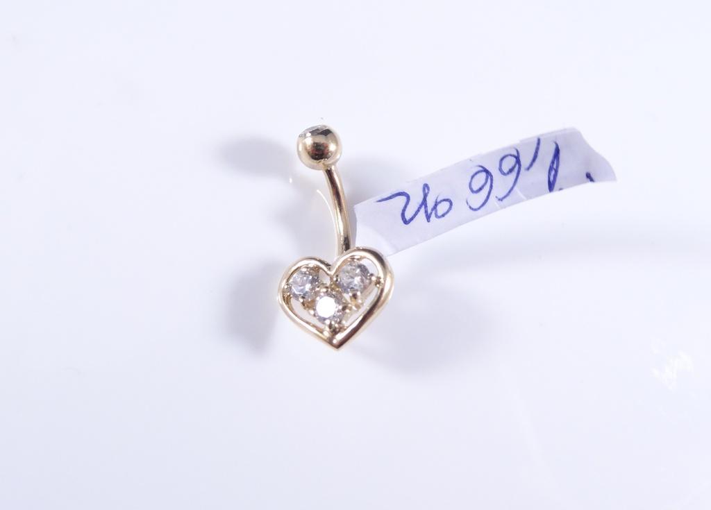 piercing aur buric inimioara se1370 ymall ro